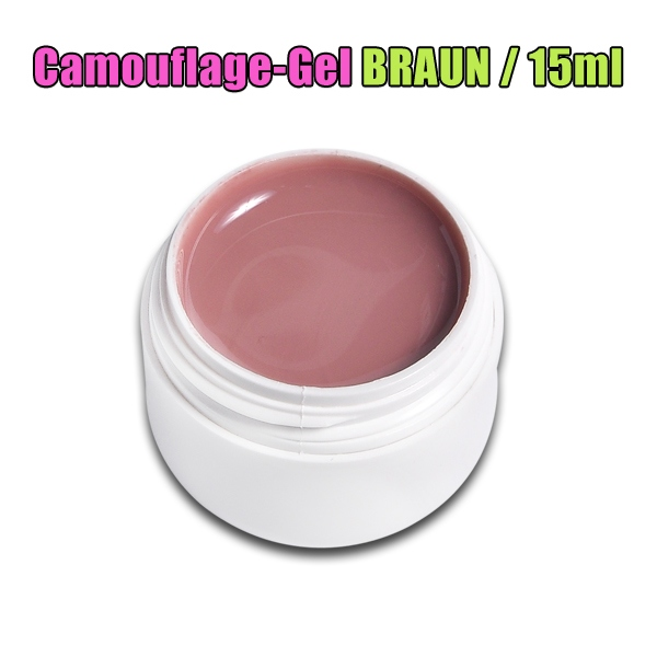 Camouflage Gel MAKE COVER UP UV GEL / BRAUN / 15ml