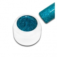 Premium Farbgel UV-Gel / 5ml / Farbe: BLAU GR�N Glitter PFG001 / Made in Germany